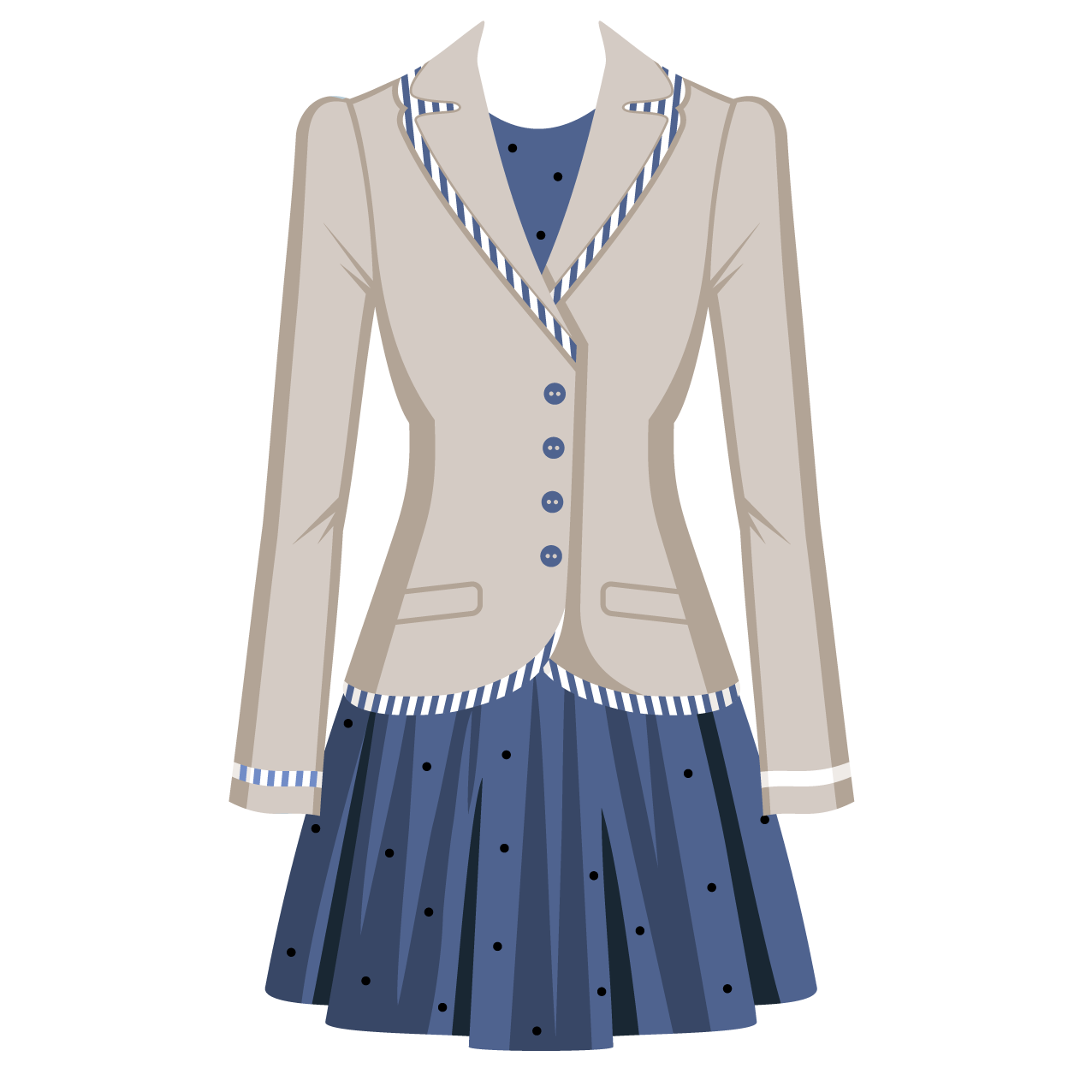 Suit stock photography fashion. Clipart clothes women's clothing