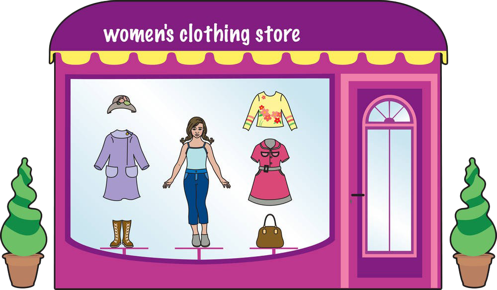 Clothing clipart mix match clothes. Shop boutique fashion clip