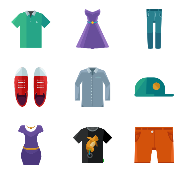 Clothing clipart thin clothes. Icons free vector