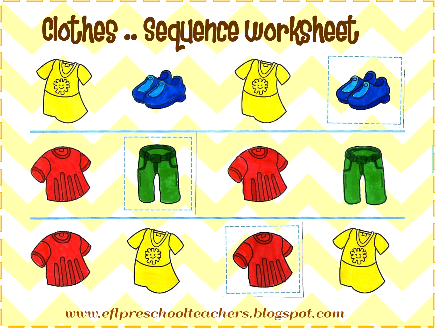 clipart clothes worksheet