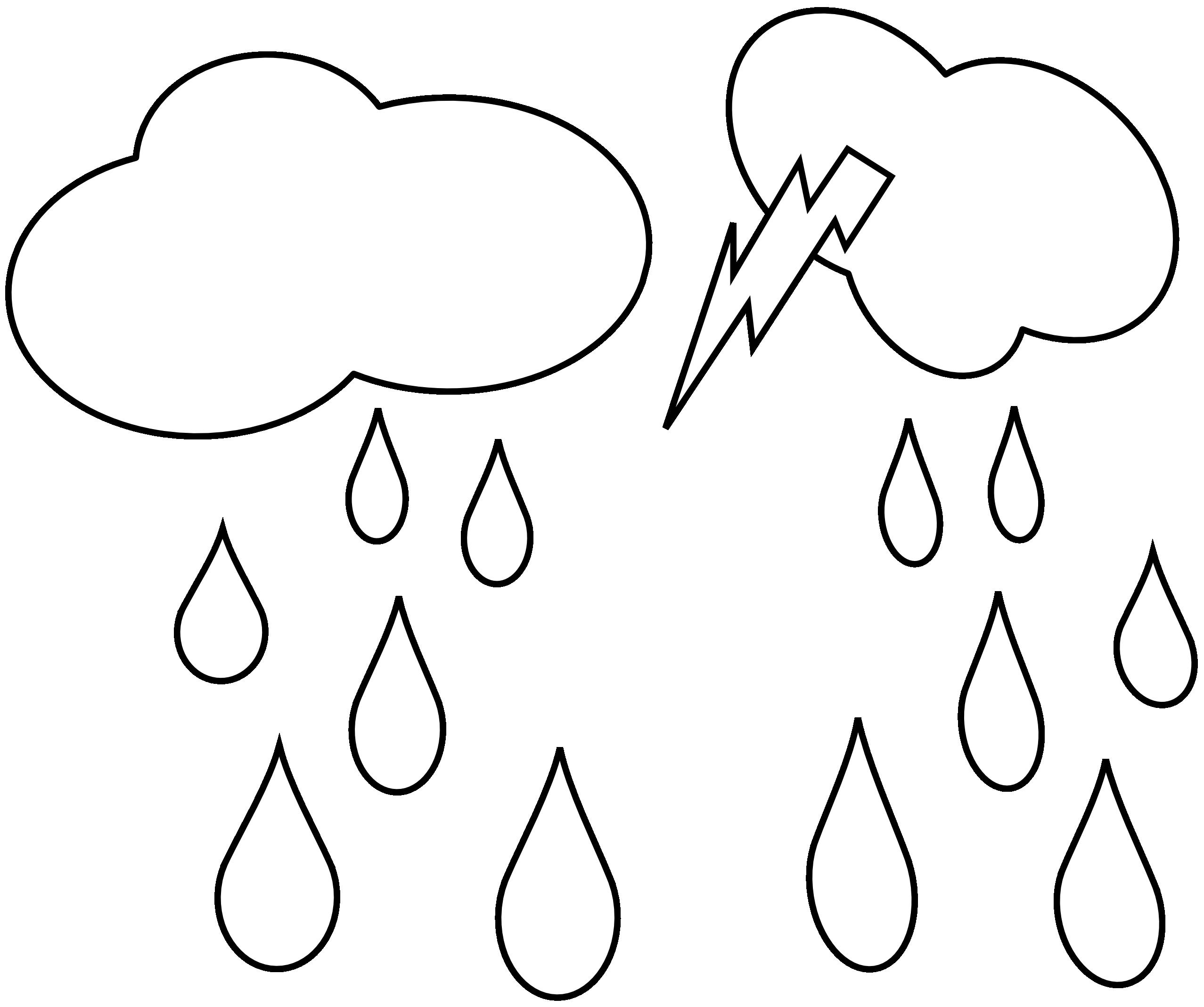 Sad rain cloud panda. Thunderstorm clipart black and white