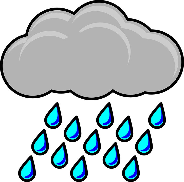 Cartoon rain cloud shop. Clipart duck rainy