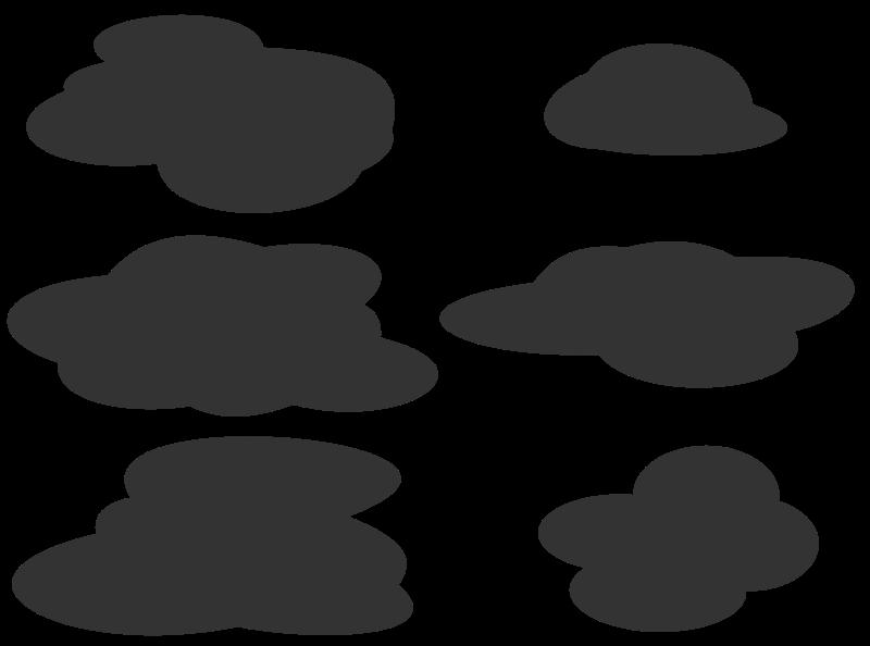 Cloud clipart creepy