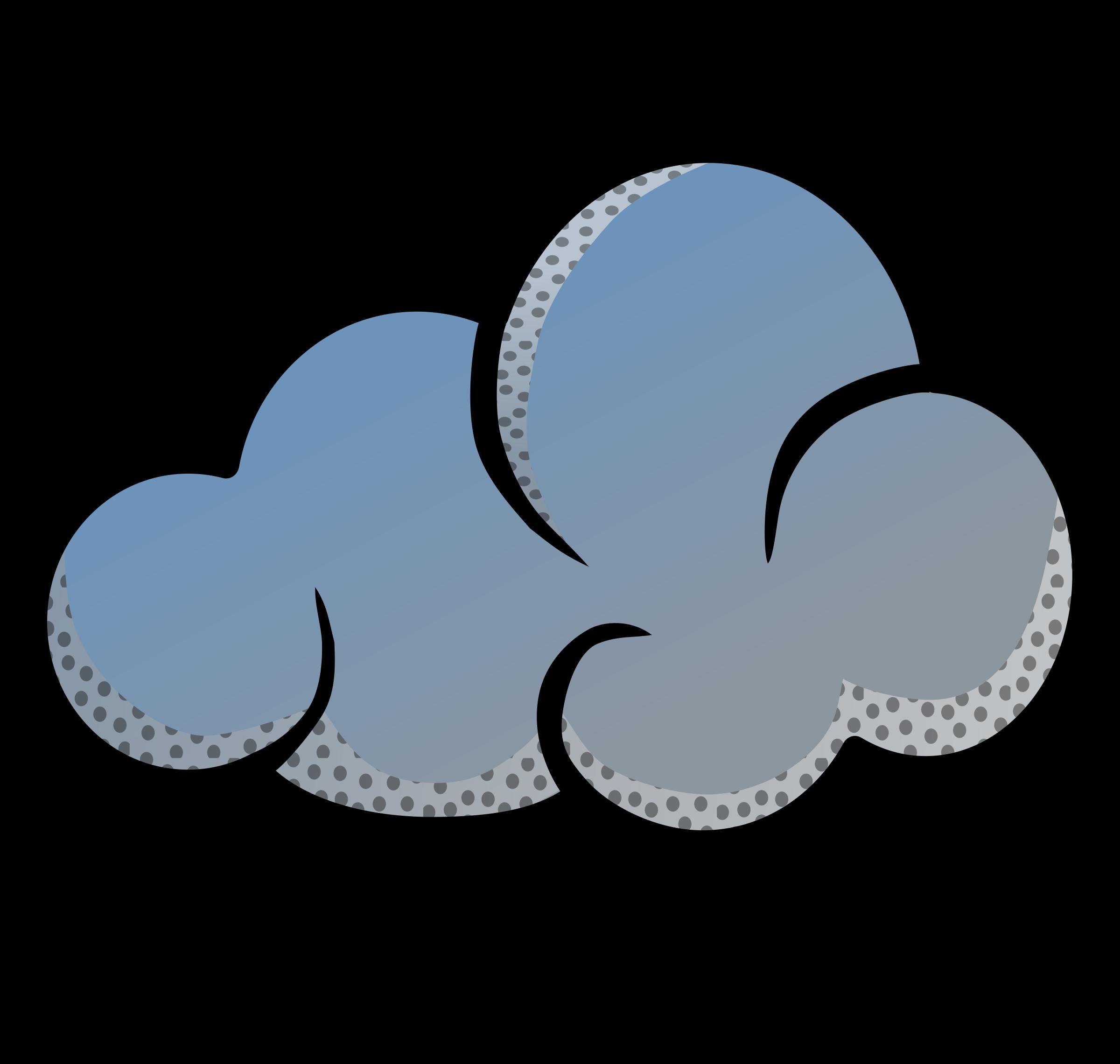 Cloud coloured big image. Clouds clipart bmp