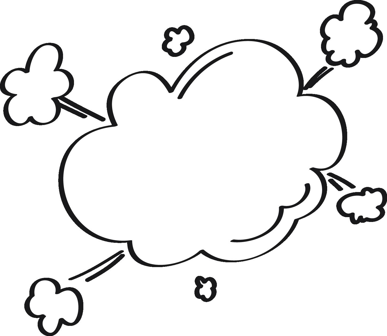 Cloud dialog box dialogue. Clipart explosion leaf