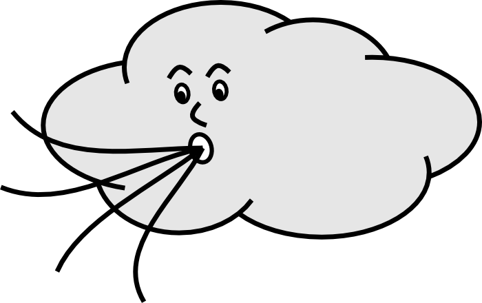 Clouds black and white. Sunny clipart outline