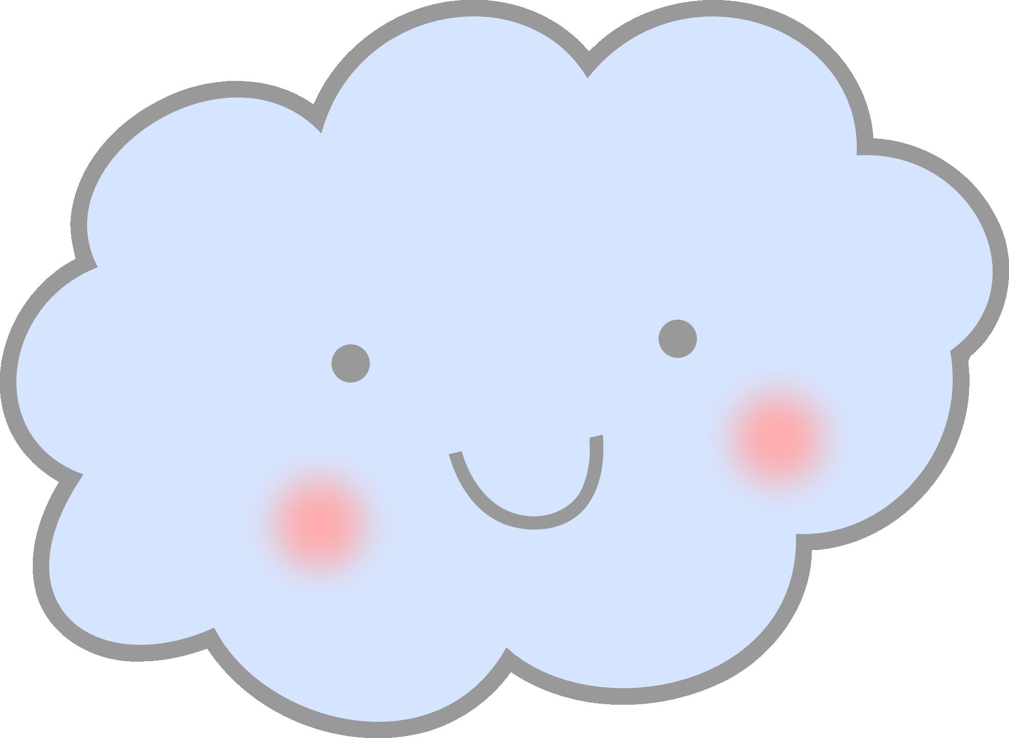 Cute cloud clip art. Clouds clipart bmp