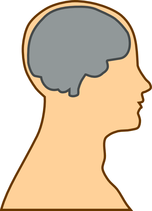Silhouette of a i. Clipart money brain