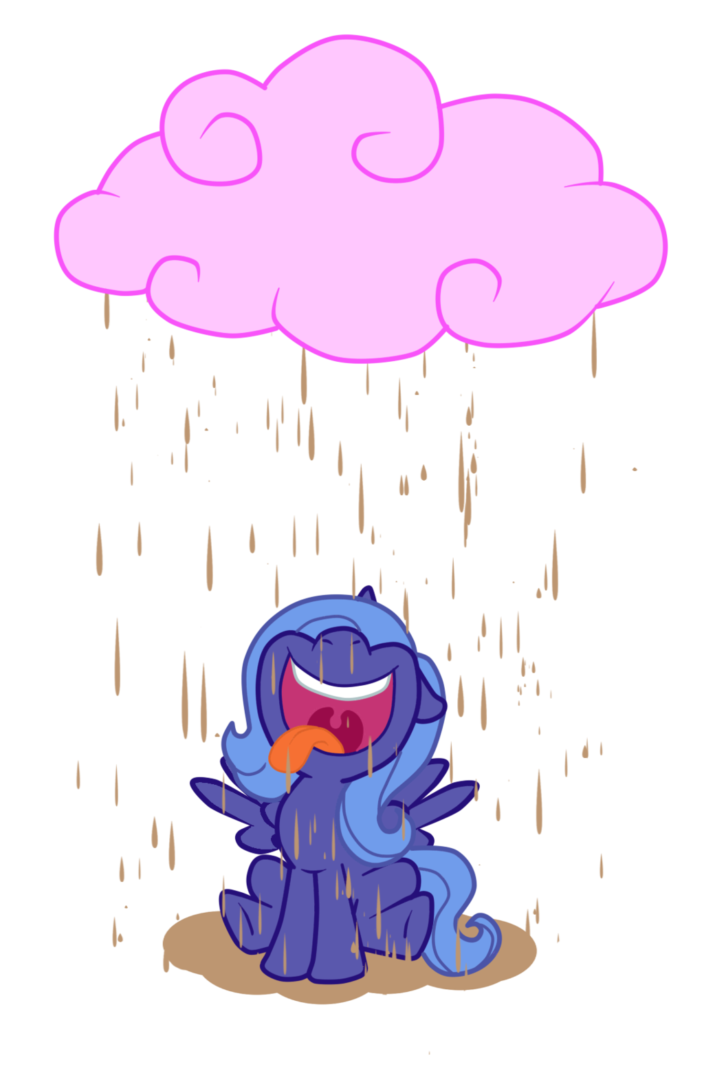 Chocolate rain by hendocrinogeno. Clouds clipart candy