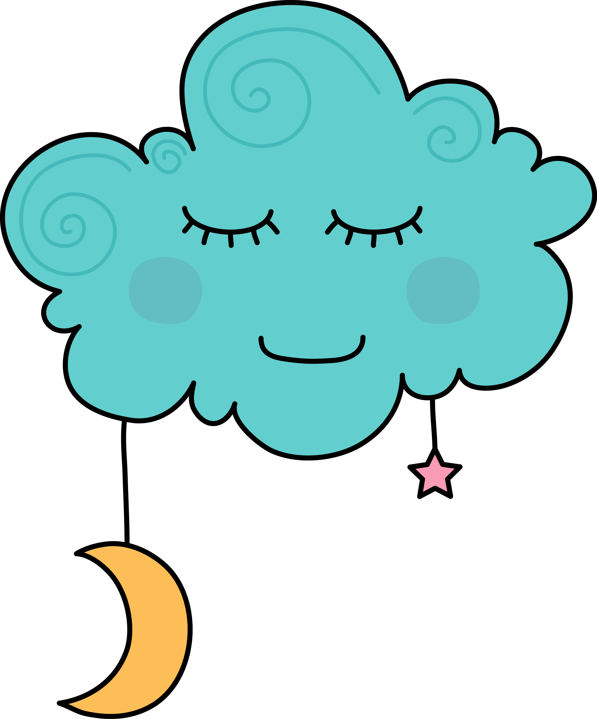 Dreaming cloud cartoon jokingart. Quilt clipart peaceful sleep