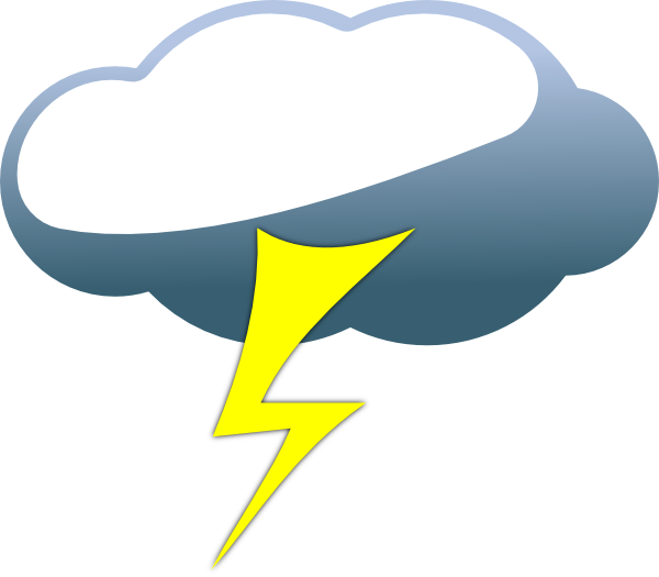 Storm clouds cartoon best. Lightning clipart cute