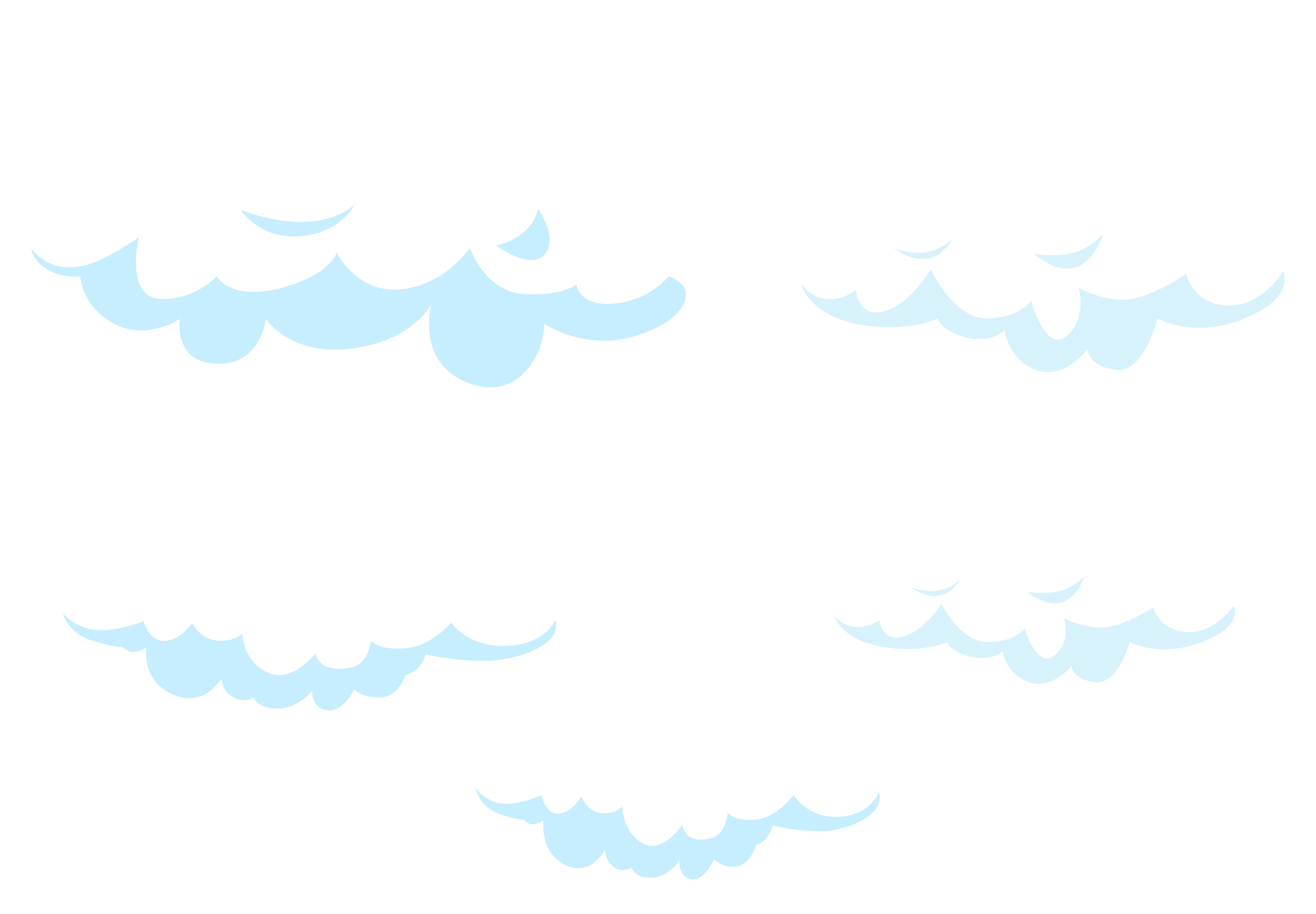 Cloudy clipart puffy cloud. Cartoon clouds set transparent