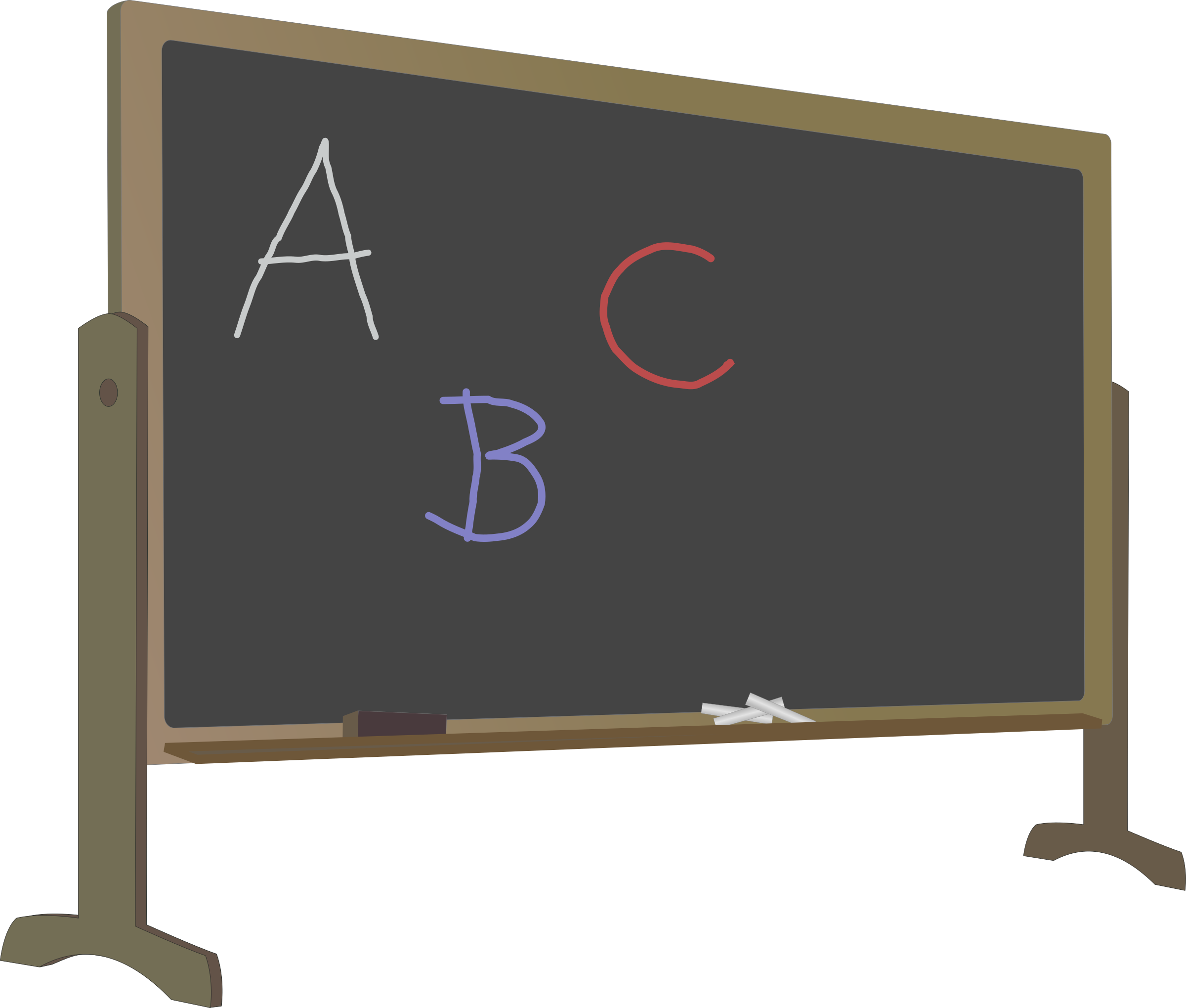 Clipart science chalkboard. Blackboard with stand and