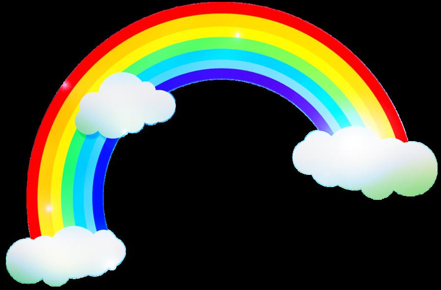 For kids google rainbows. Streamers clipart rainbow