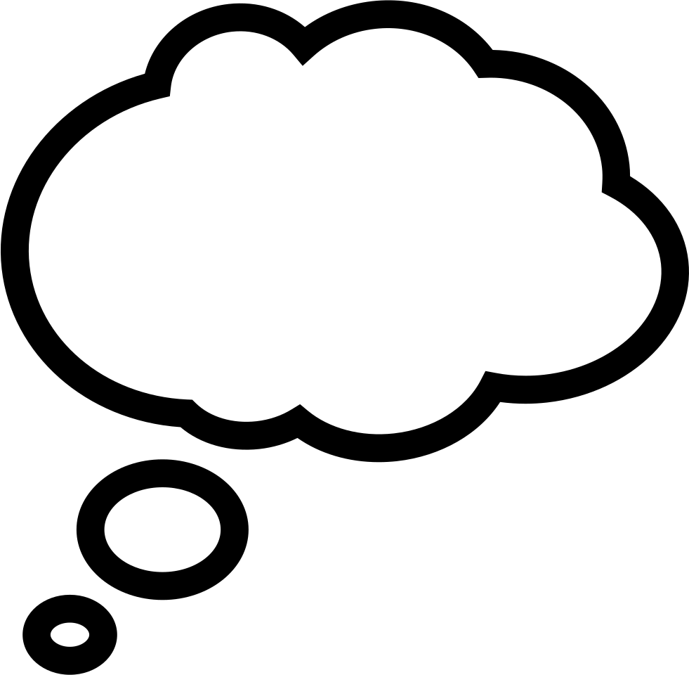 Thin bubble message svg. Cloud clipart chat