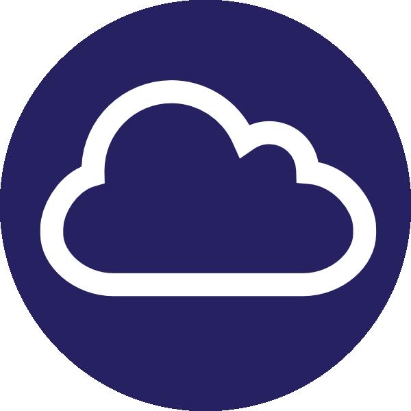Blue icon internet clip. Cloud clipart circle