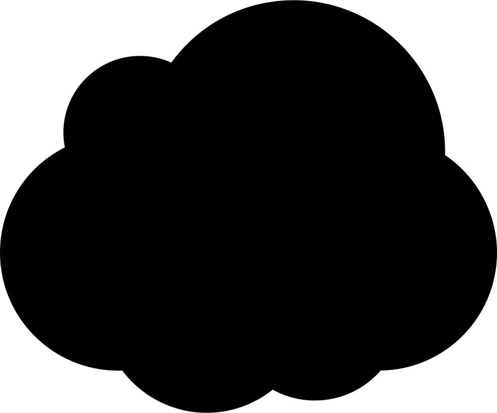 Cloud clipart cloud shape. Dark svg png icon