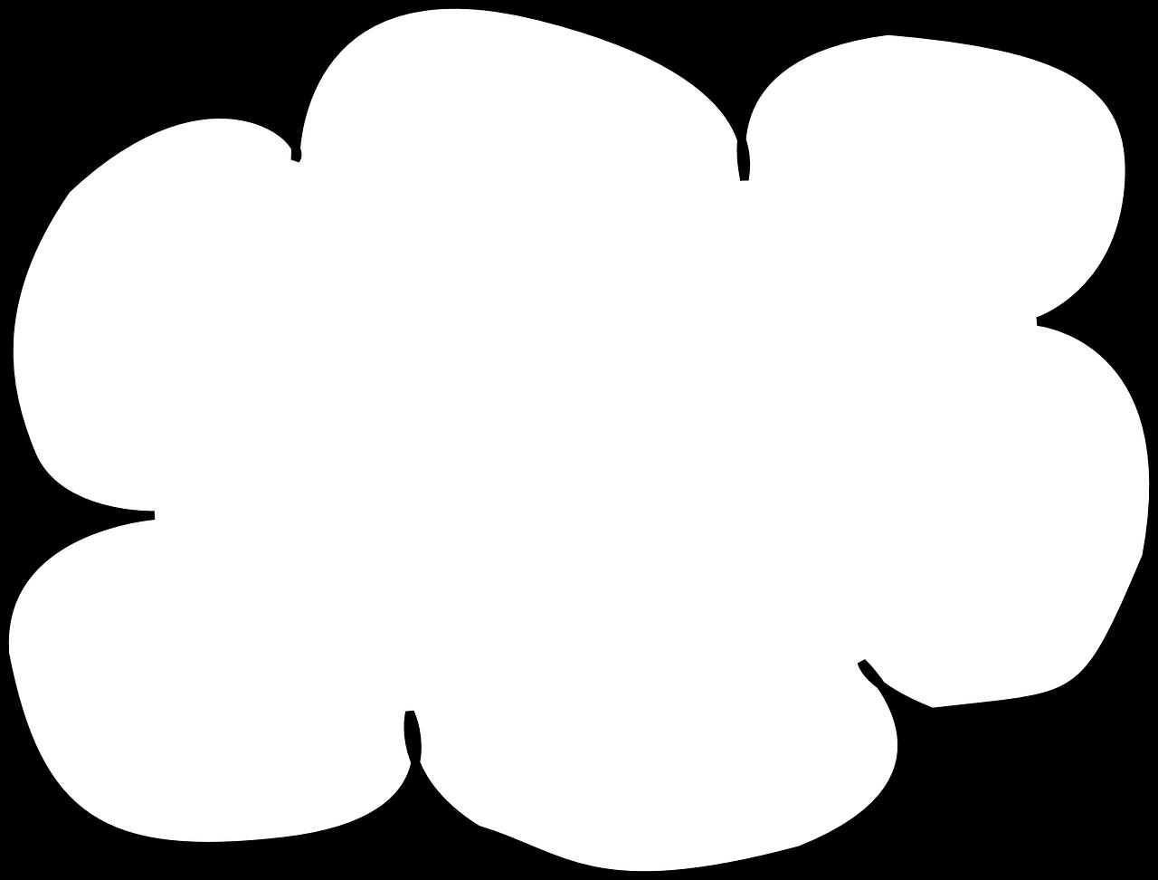 Cloud clipart cloud shape. How the growing internet