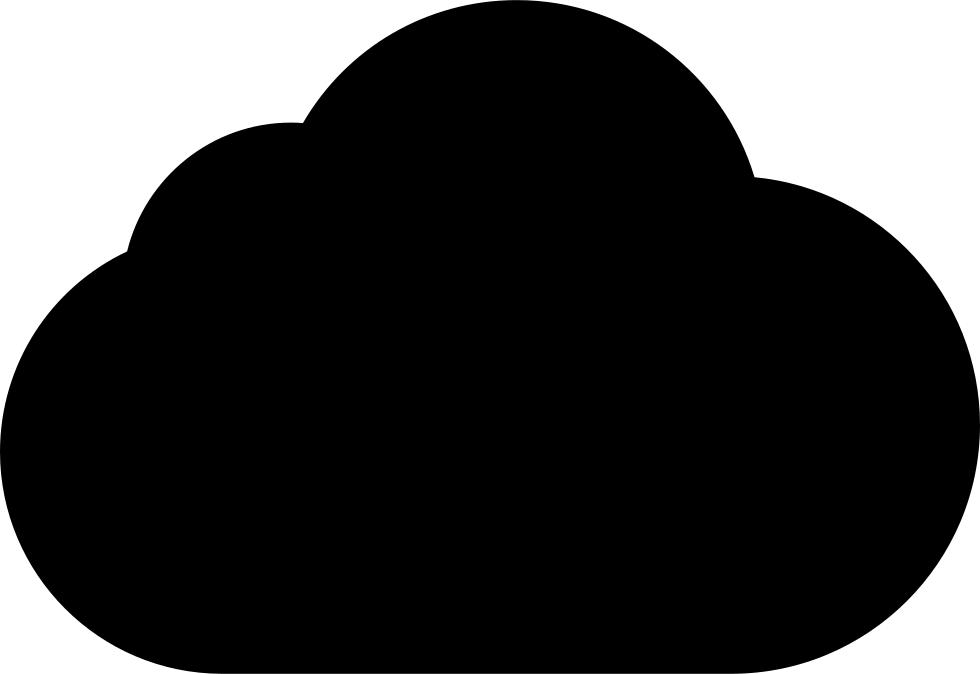 Cloud clipart cloud shape. Black svg png icon