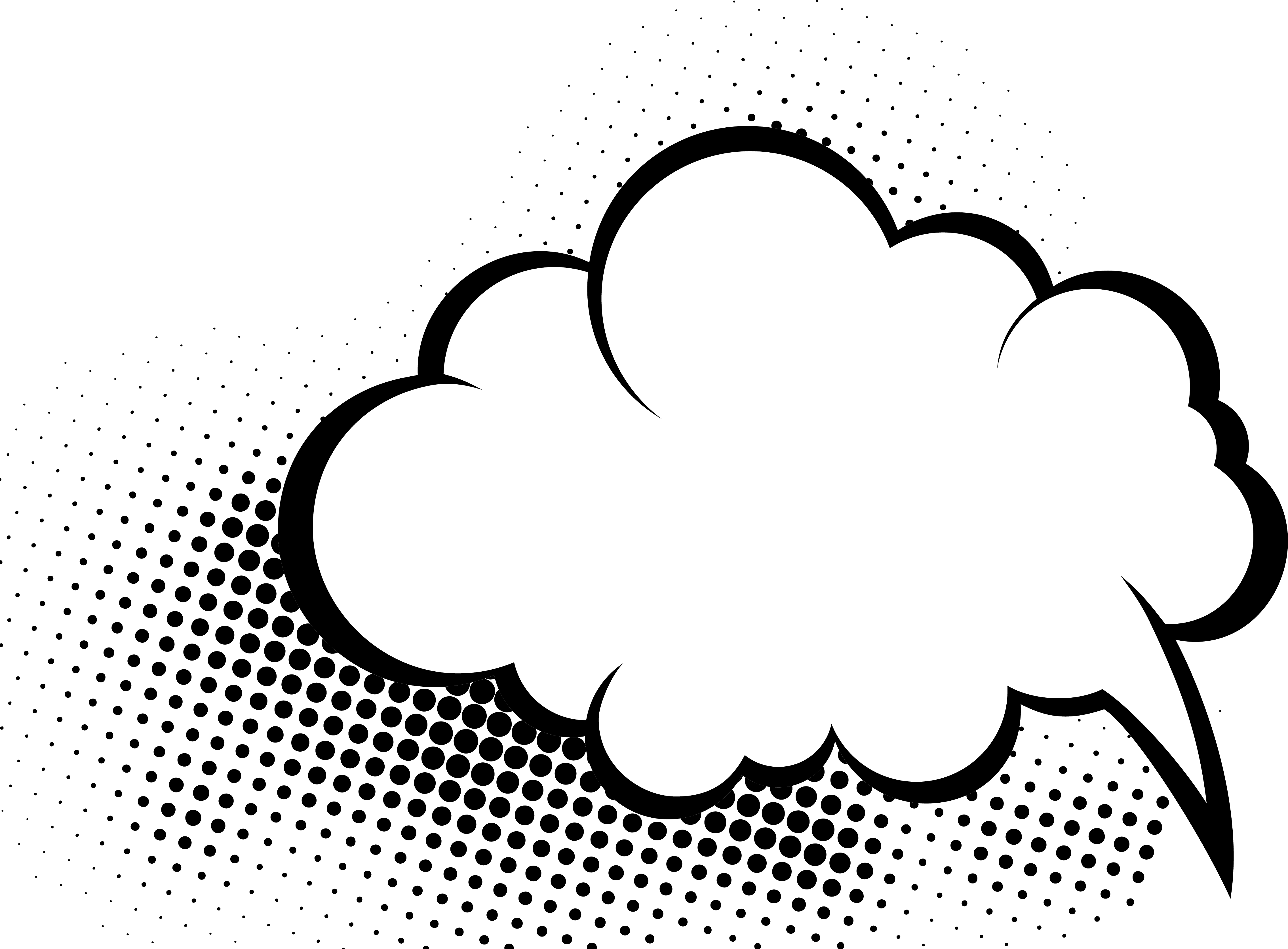 Comics speech balloon hand. Clipart cloud comic book