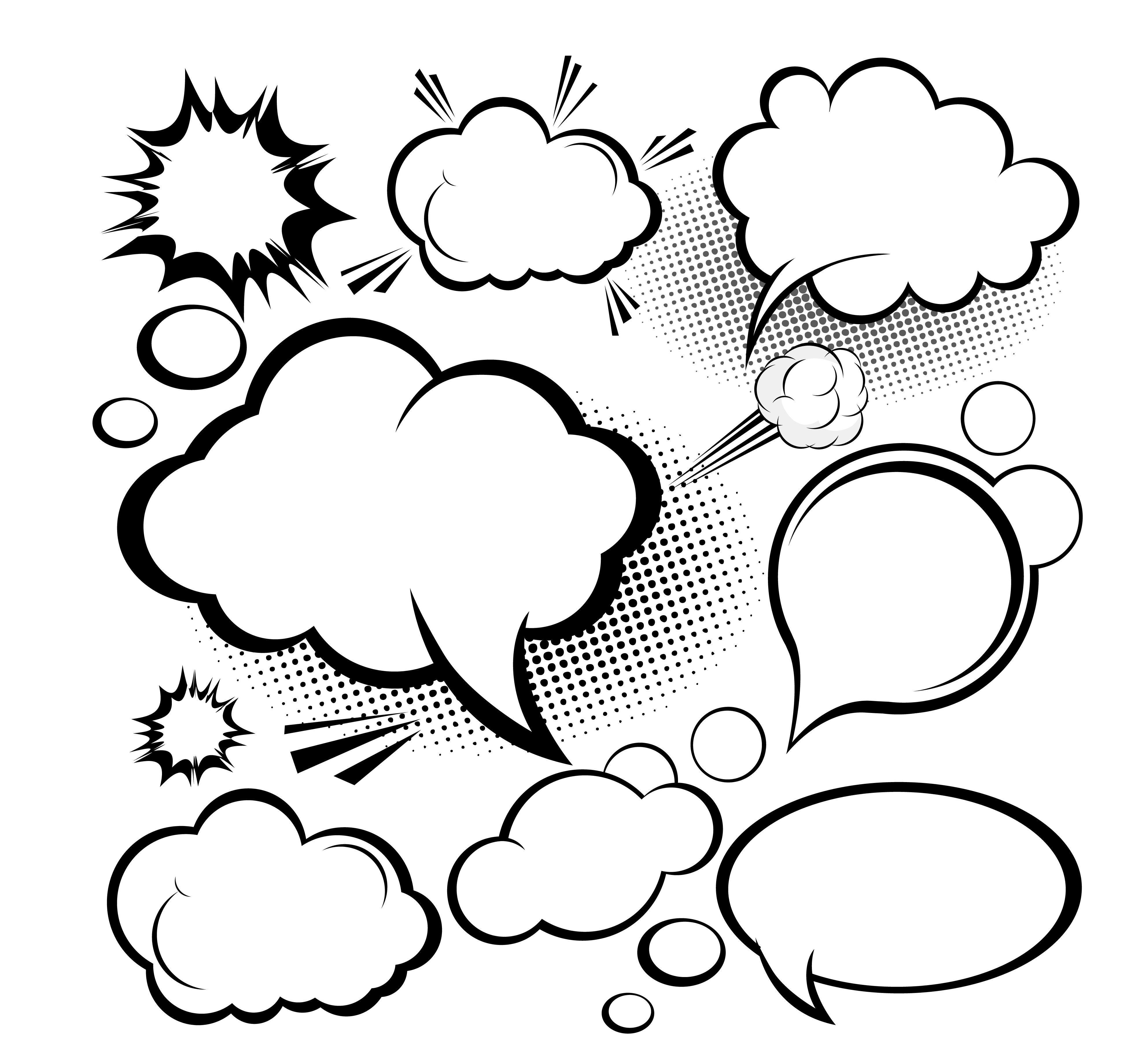 Clipart cloud comic book. Speech balloon euclidean vector