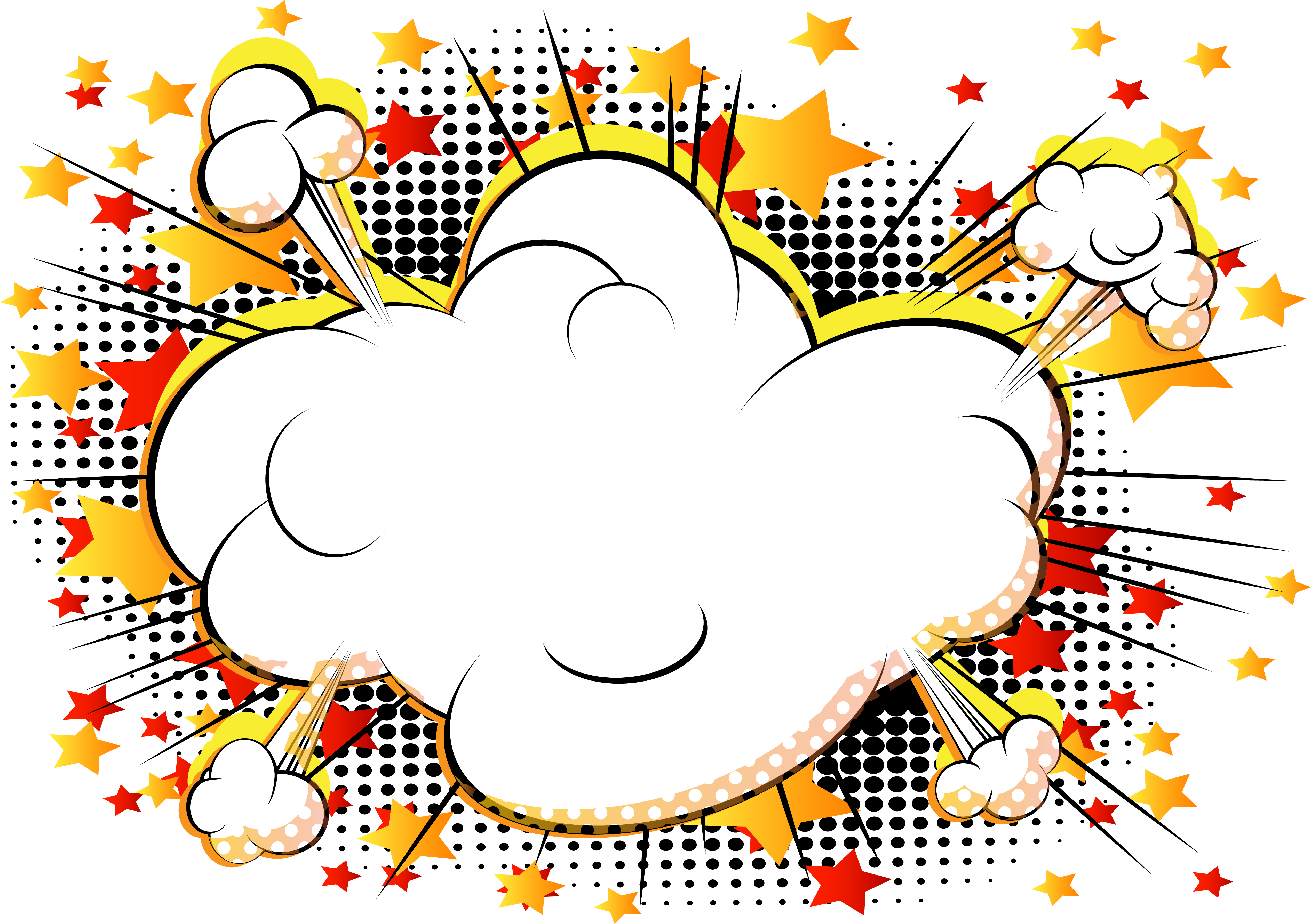 Clipart cloud comic book. Comics cartoon explosion vector