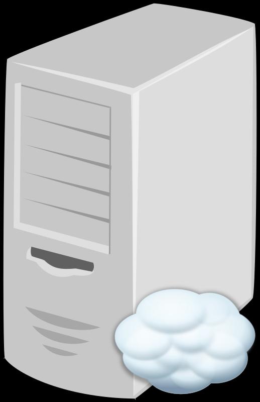 Clipart cloud computer. Server medium image png