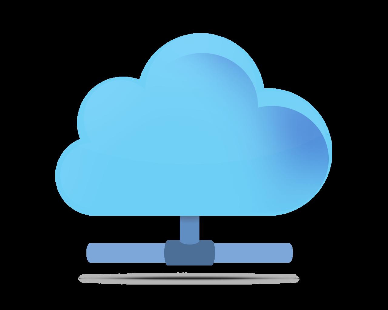 Computing panda free images. Clipart cloud computer