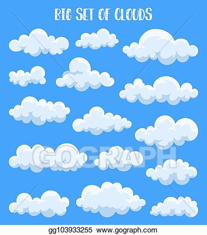Clouds clipart summer. Eps illustration fluffy and