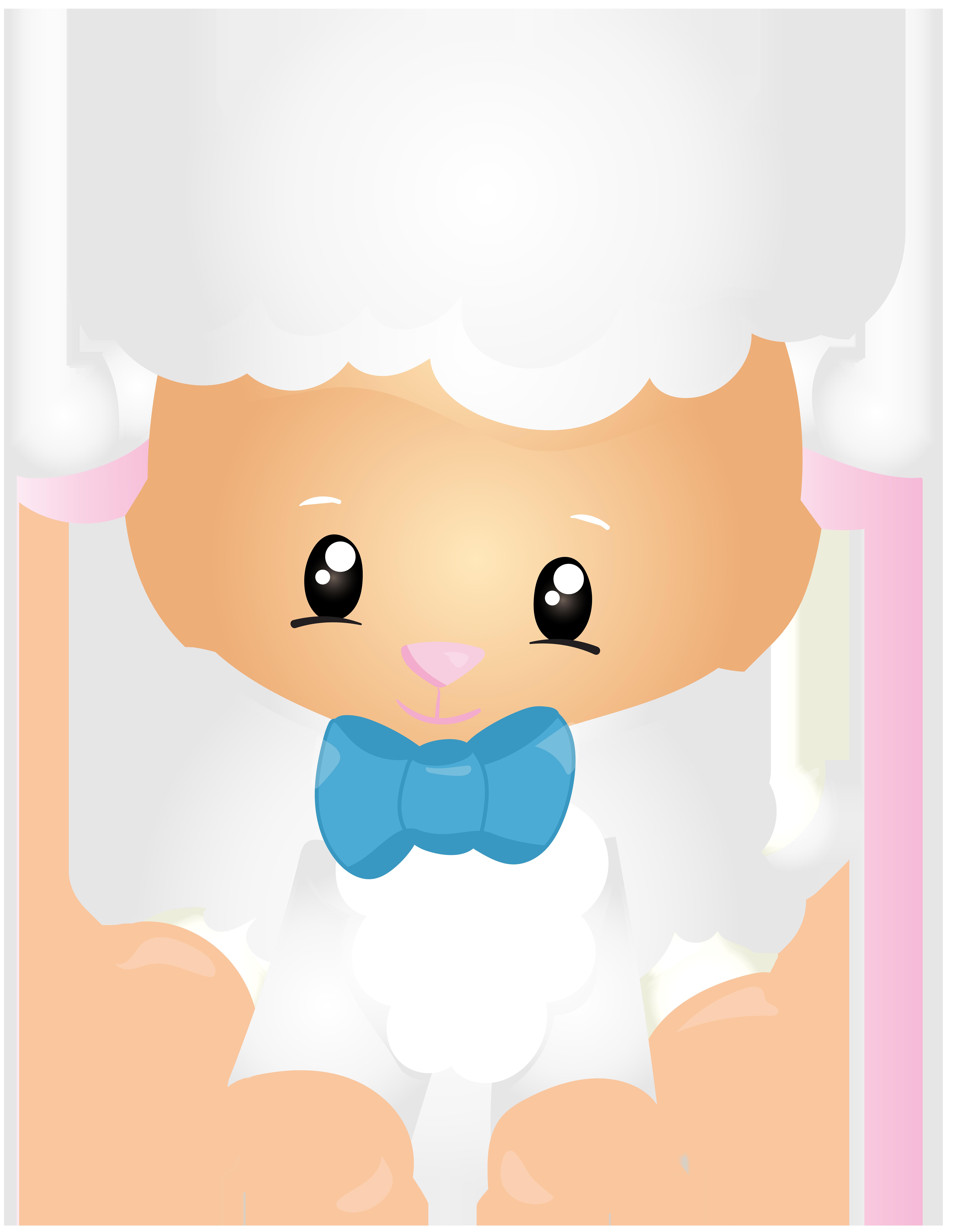 Cloud clipart bunch. Lamb cute transparent png