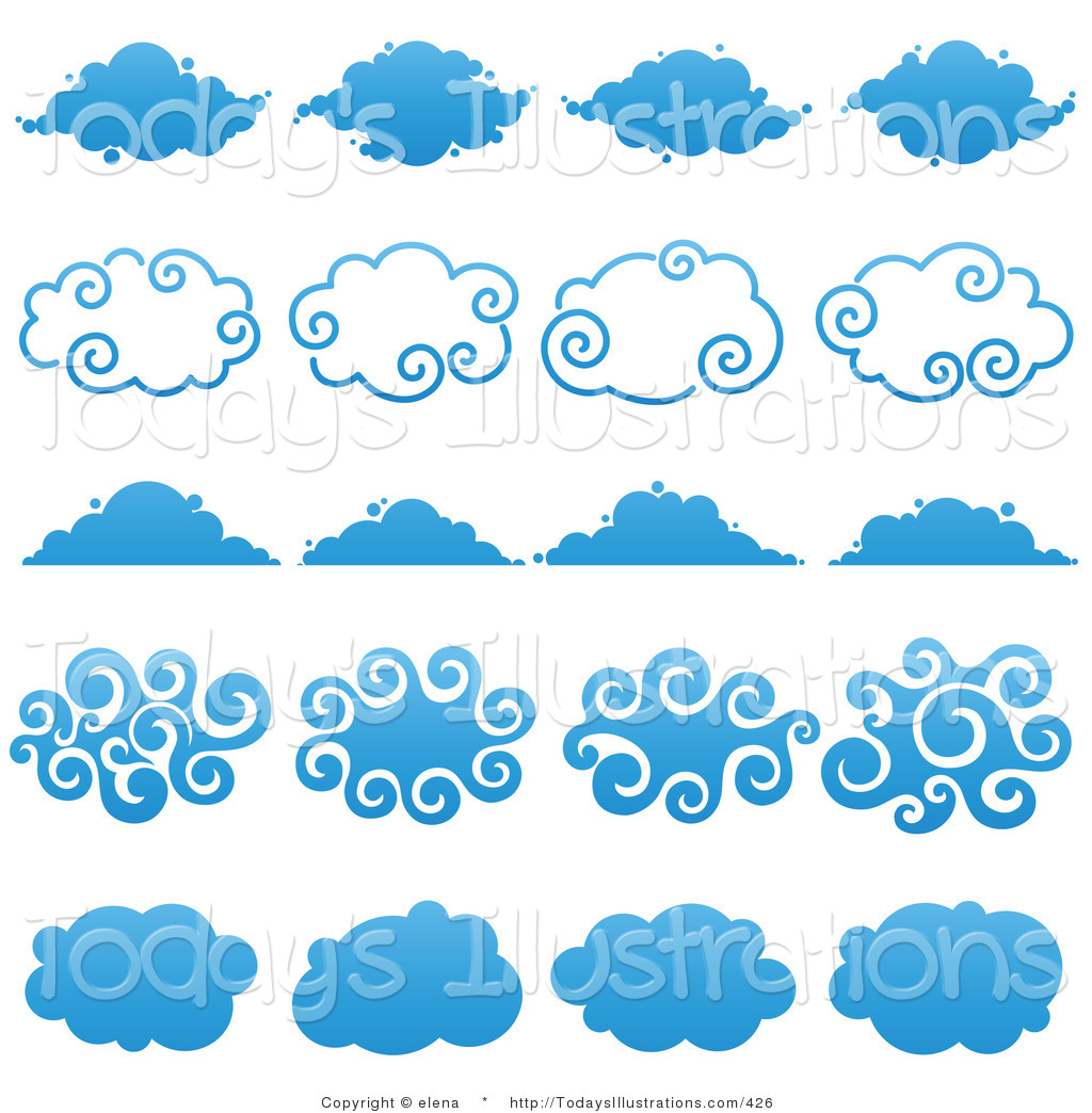 Of a digital collage. Clouds clipart logo