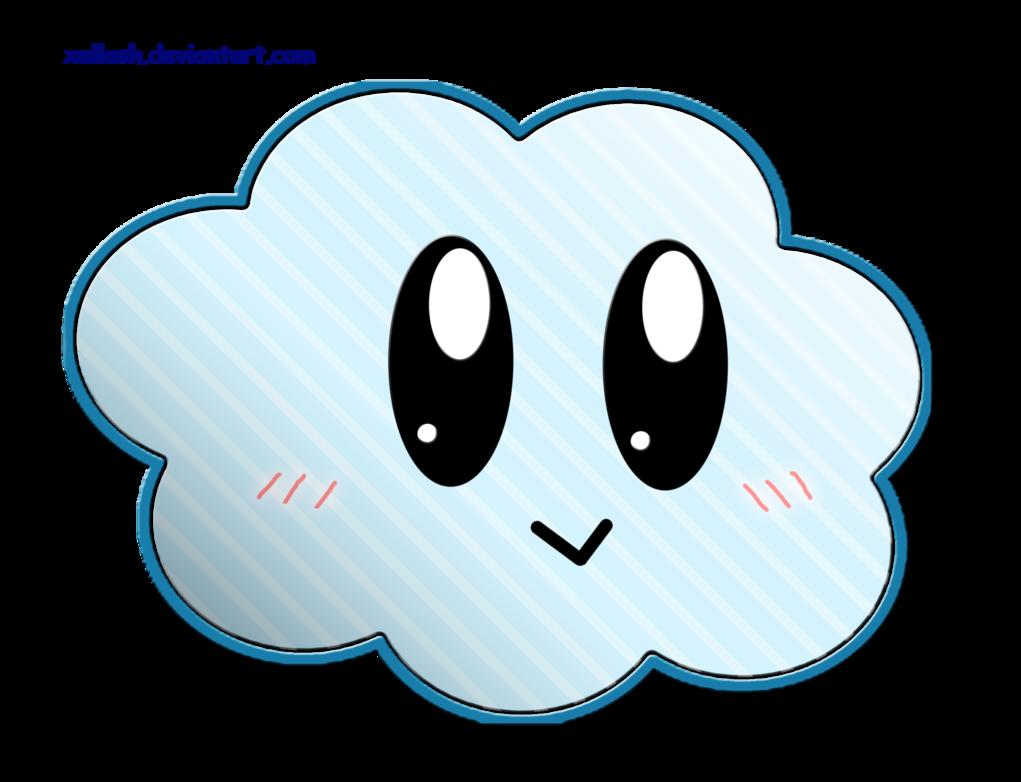 Cute by xellash on. Cloud clipart cloud shape