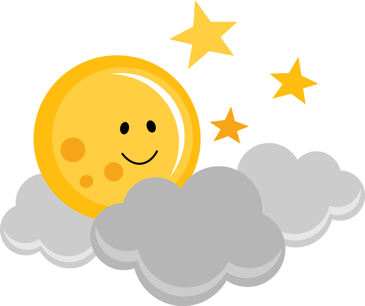 Clouds clipart cute. Ppbn designs moon with