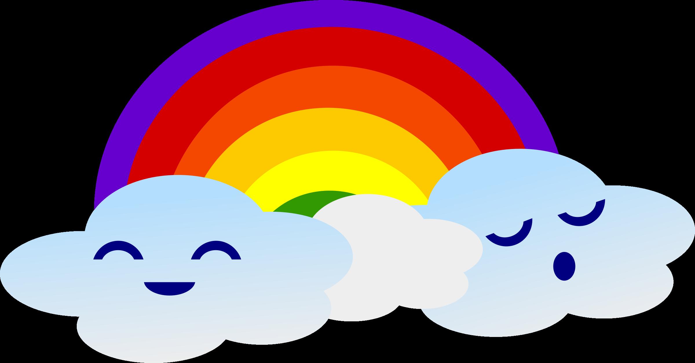 Kawaii big image png. Clipart rainbow cute