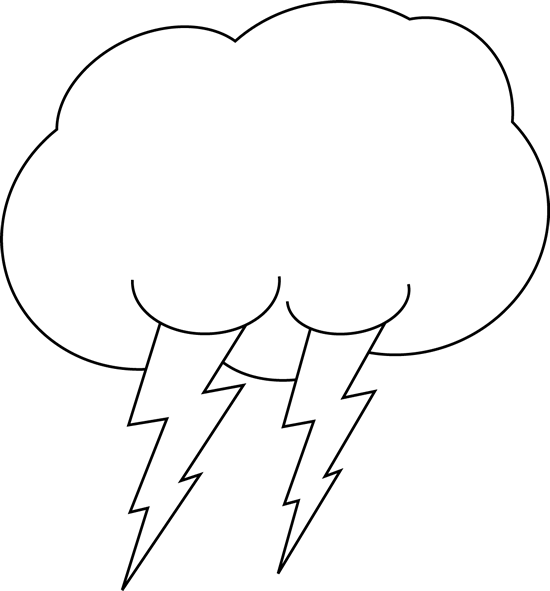 Cloud clip art images. Lightning clipart stormy