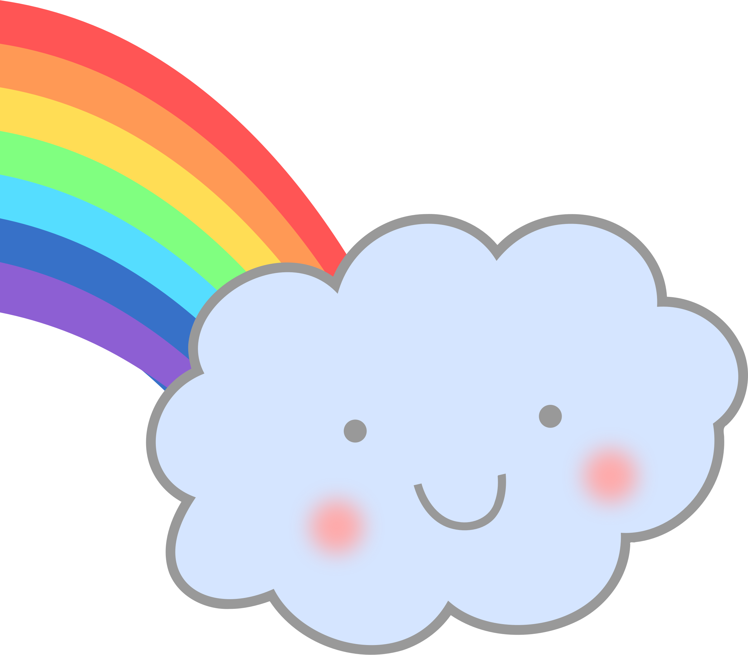 Schedule clipart cute. Cloud with rainbow big