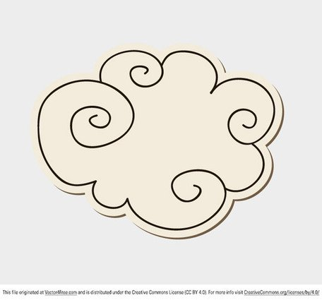 Free clouds and vector. Cloud clipart doodle