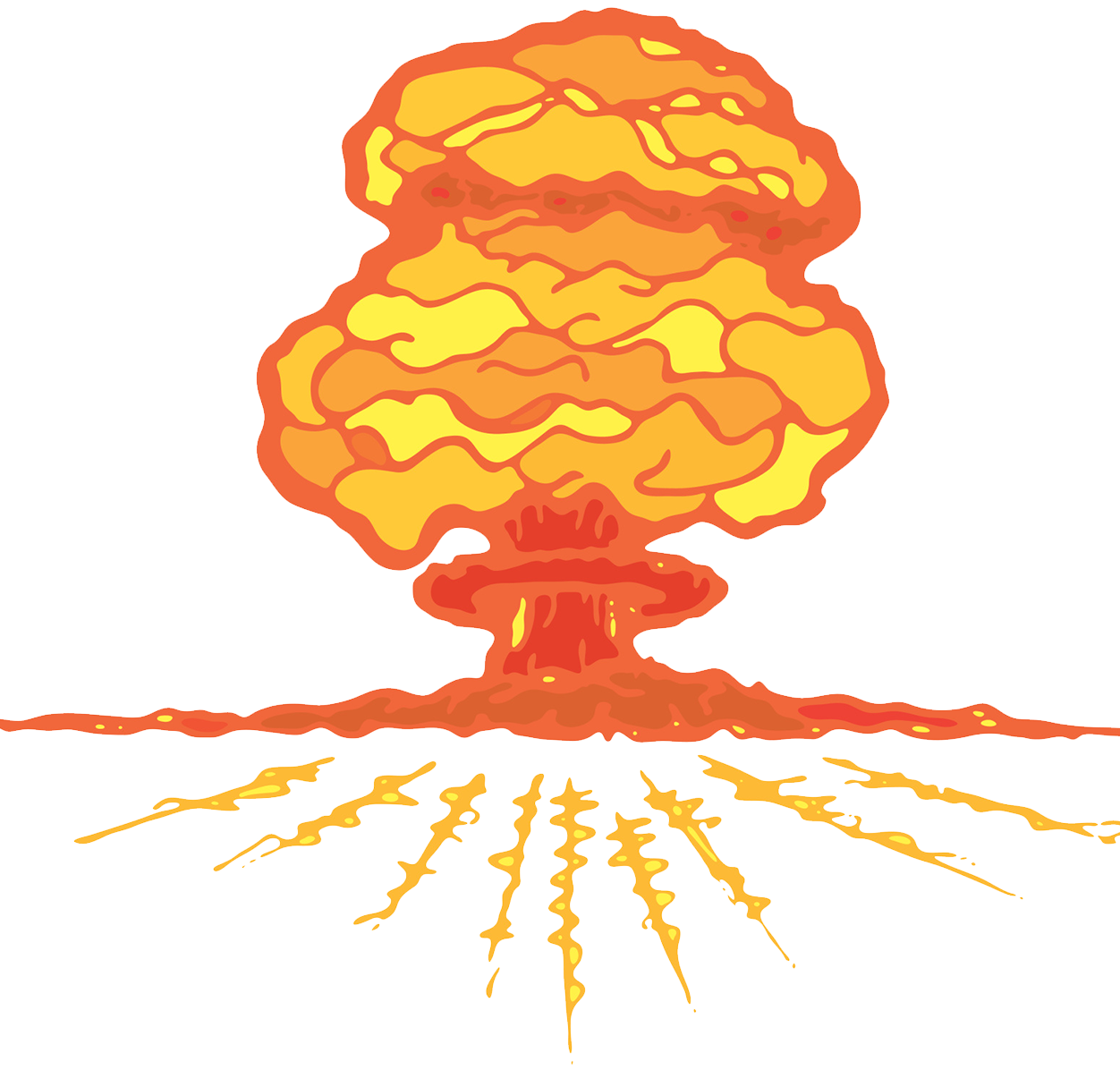 Clouds clipart explosion. Mushroom cloud nuclear weapon