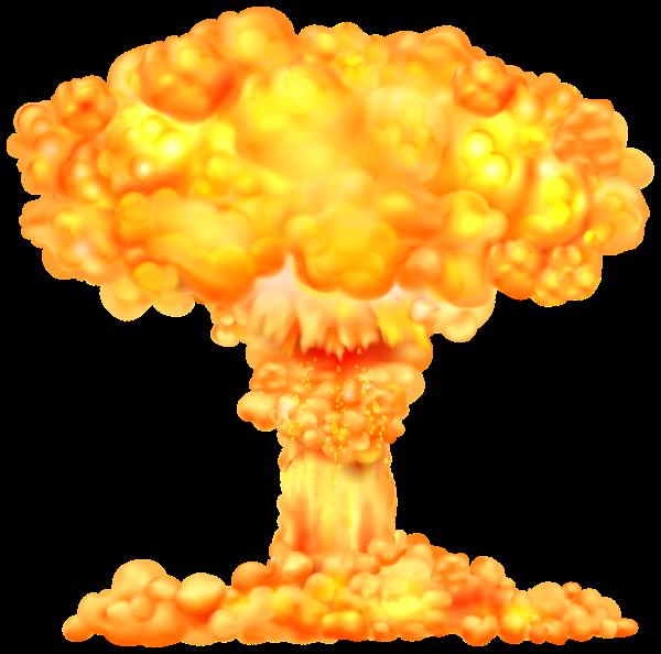 Fire bomb nuke missle. Explosion clipart boom