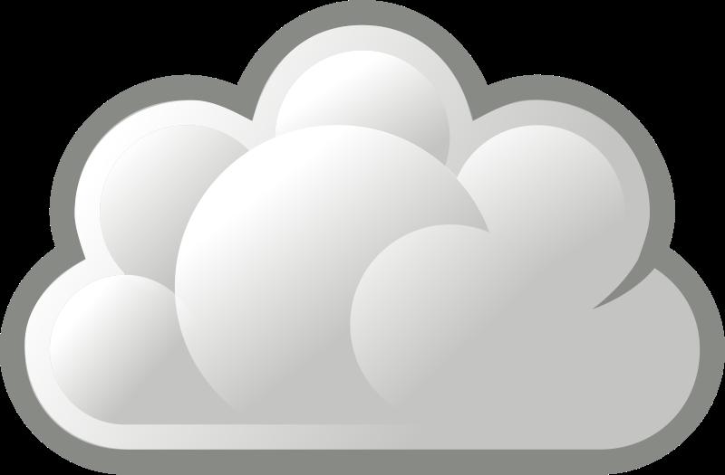 Stylized basic cloud medium. Clouds clipart illustration