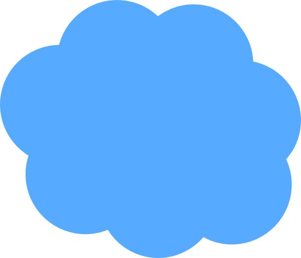 Image of blue cloud. Clouds clipart jpeg