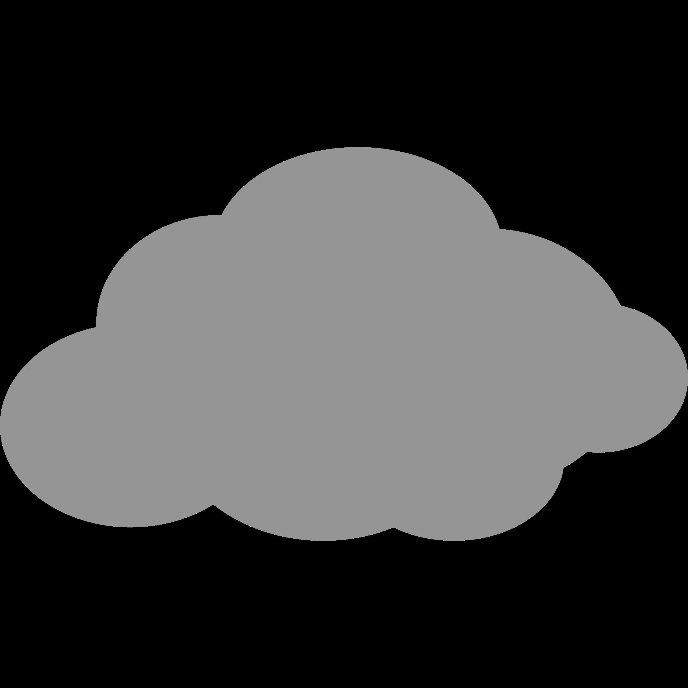 Clipart cloud grey. Outline of image clipartix