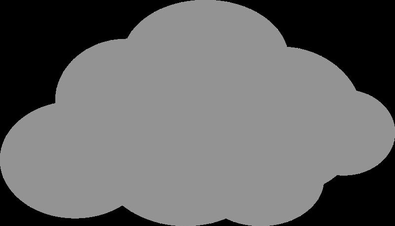 Clipart cloud grey. Simple icon medium image