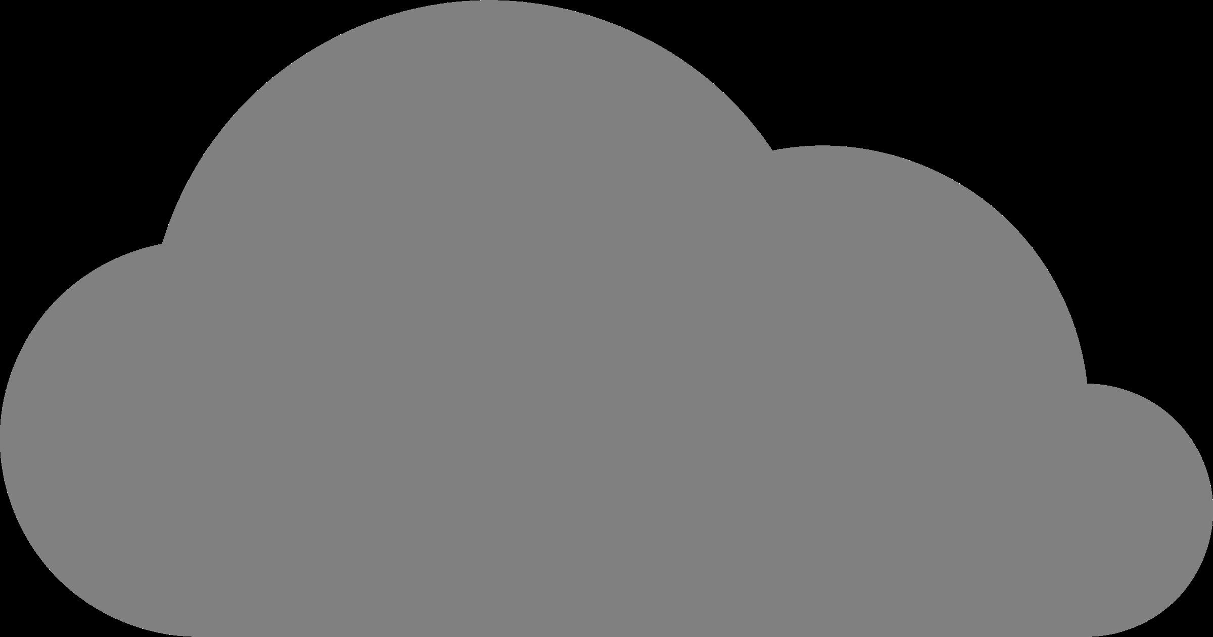 Big image png. Clipart cloud grey