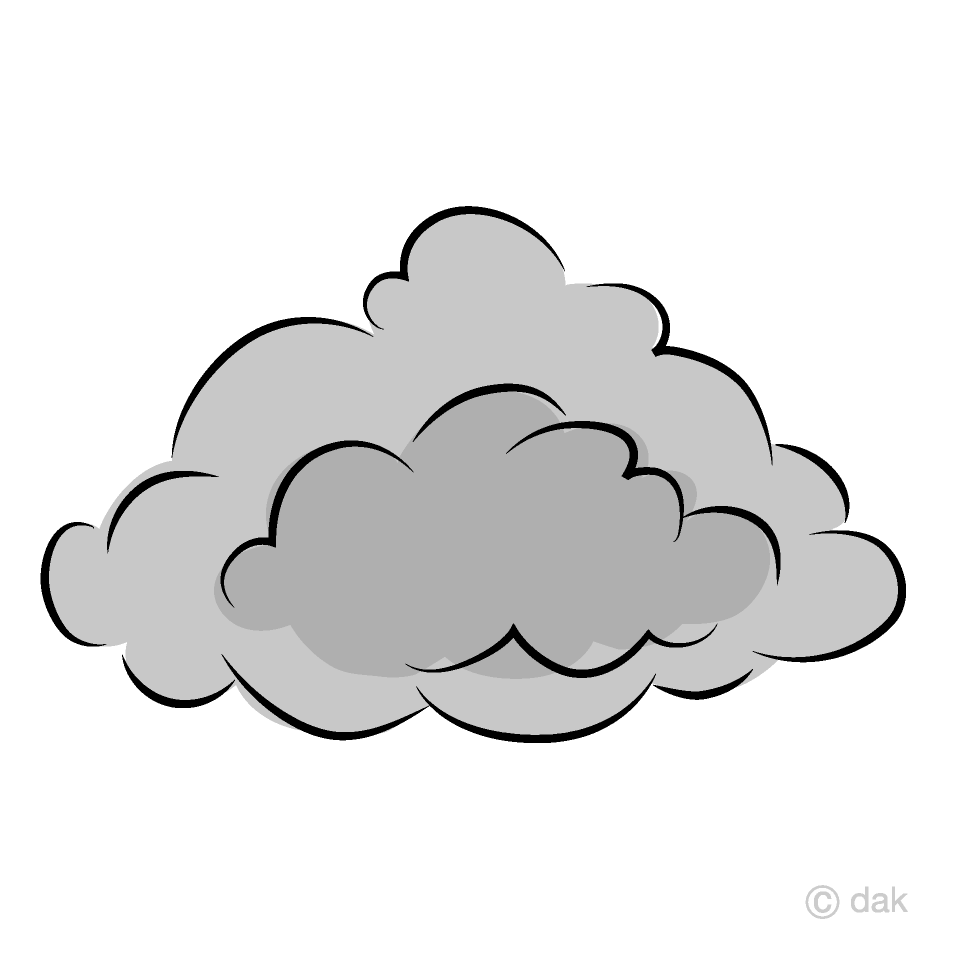 Free picture illustoon . Clipart cloud grey