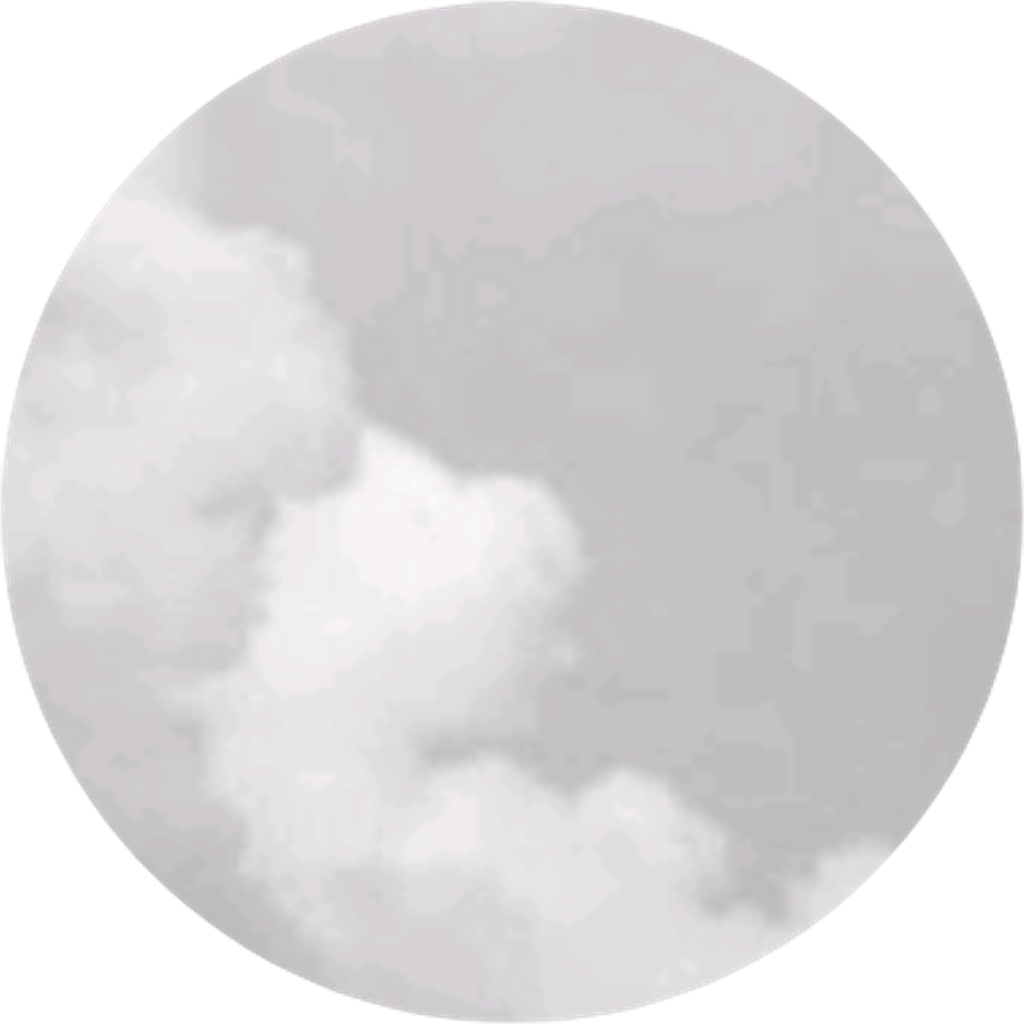 Smoke white puff circle. Clipart cloud grey
