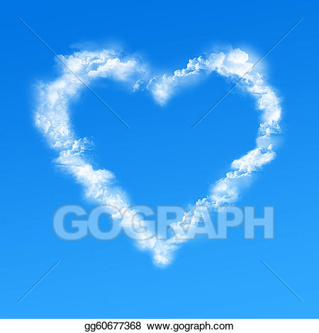 Drawing clouds gg gograph. Cloud clipart heart