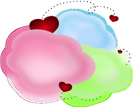 Cloud clipart heart. Clip art library