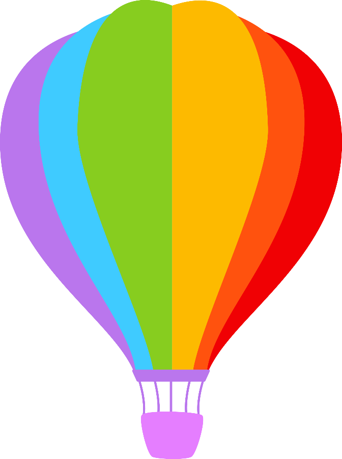 Meios de transporte minus. Hearts clipart hot air balloon
