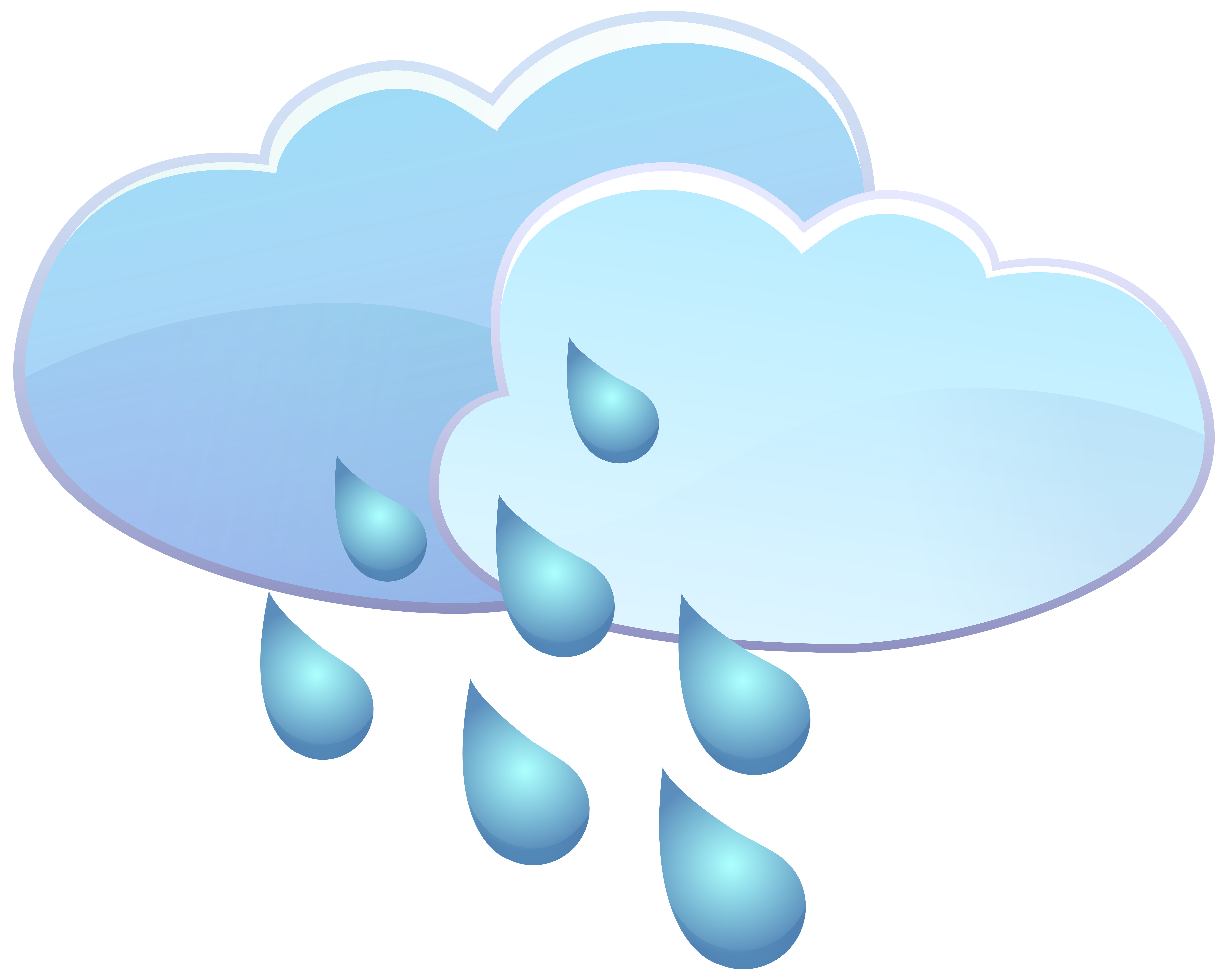 And rain drops icon. Clouds clipart weather